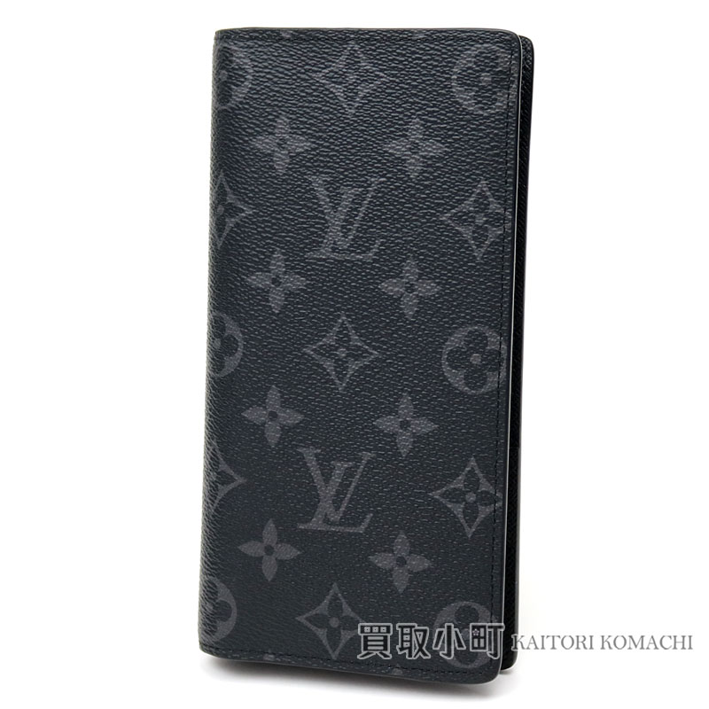 2792248109cc Men s wallet wallet black LV Brazza Wallet Monogram Eclipse with the Louis  Vuitton M61697 ポルトフォイユブラザモノグラムエクリプス folio long wallet coin ...