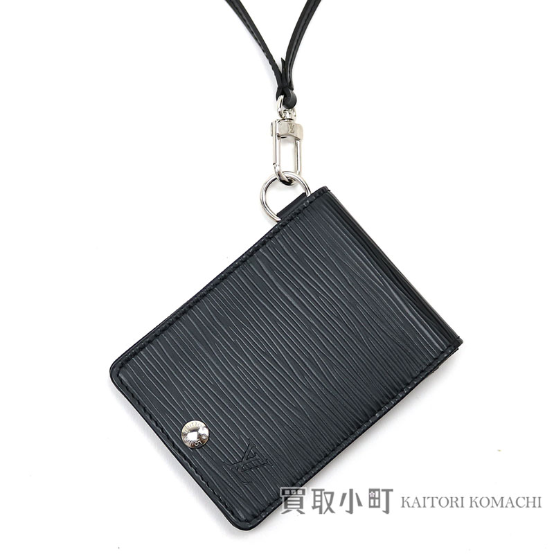 590af55539e71 KAITORIKOMACHI: Card case pass case black leather LV CARD HOLDER  BANDOULIERE EPI NOIR with Louis Vuitton M60082 Porto cult ID バンドリエールエピノワール  ...