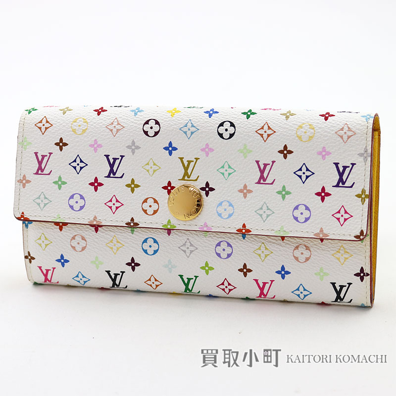 1532e3f9bb5 Louis Vuitton M93743 ポルトフォイユサラモノグラムマルチカラーブロン X lemonade flap wallet long  wallet wallet yellow leather LV SARAH WALLET MONOGRAM MULTICOLOR