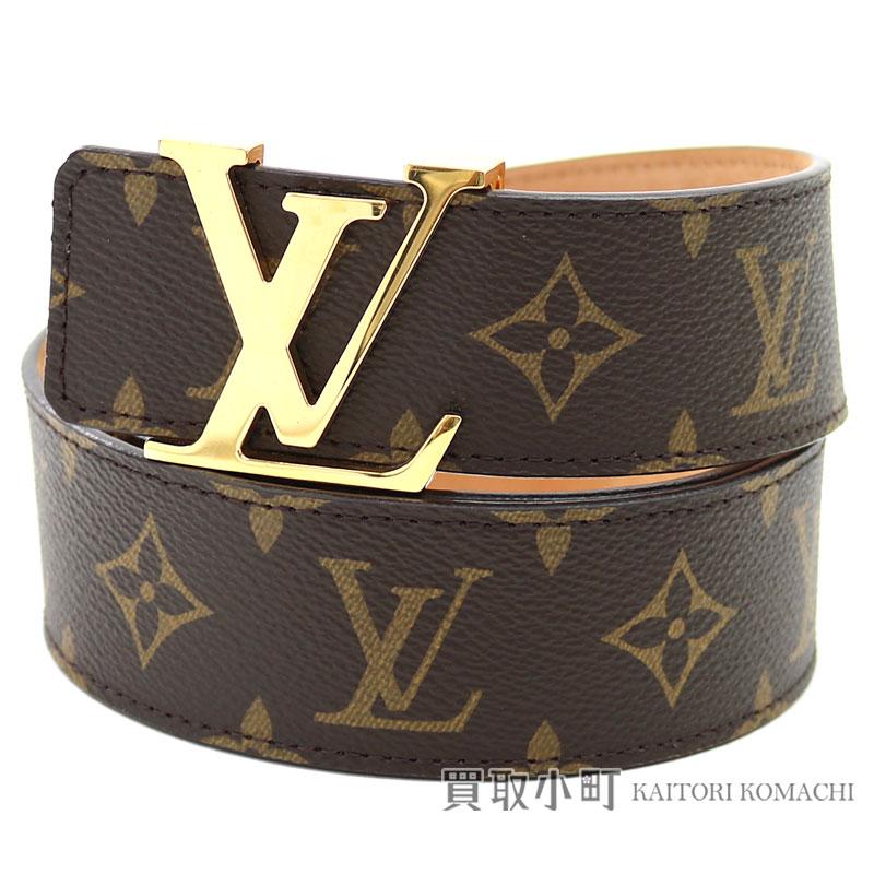 c3e12e393891 Louis Vuitton M9608U sun Tulle LV initial 40MM monogram belt LV logo gold  buckle 90cm Saint-Cheol LV Initiales Monogram Belt