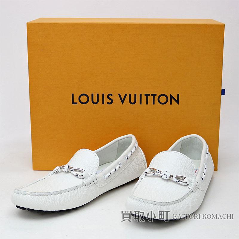 214bbed1ac Louis Vuitton 1A2TL6 RAS pie Yura in low fur men white grain calf-leather  driving shoes 2017 America's Cup gentleman shoes shoes LV RASPAIL CAR SHOES  ...