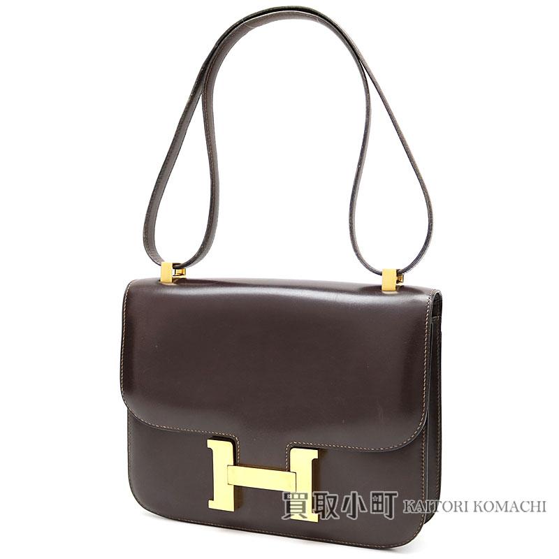 2143aa178d97 Hermes Constance 23 boxcalf brown gold metal fittings shoulder bag handbag  vintage CONSTANCE 23 VEAU BOX SHOULDER BAG