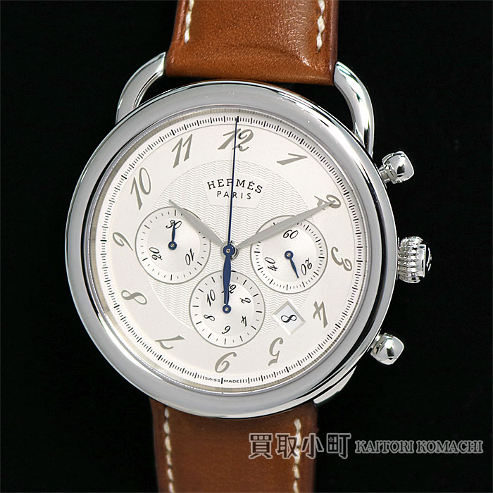fa0b766cd6100 Watch AR4.910.220 VBA ARCEAU CHRONOGRAPH AUTOMATIC WATCH AT SS for the  Hermes Al so chronograph automatic mechanic watch silver clockface  stainless steel ...
