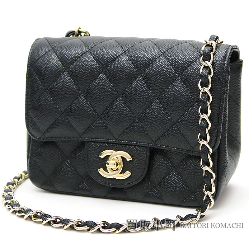 Take Chanel mini-matelasse caviar skin classical music flap bag black  silver metal fittings chain shoulder bag slant  here mark twist lock A35200   23 ... f97957d4521a5