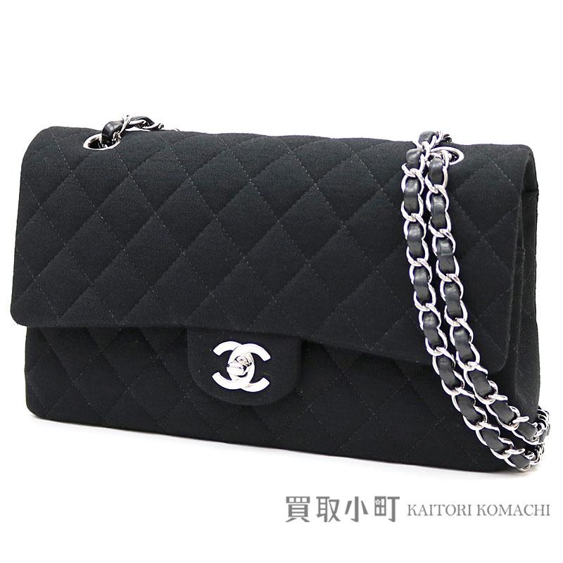 Extreem KAITORIKOMACHI: Chanel matelasse 25 classic flap bag black cotton &EB08
