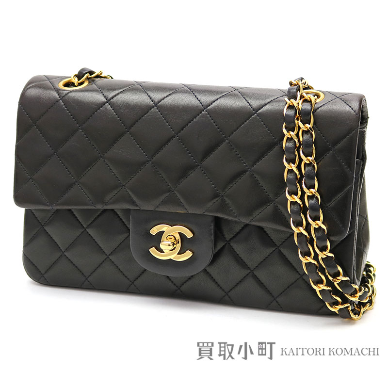 cb425a3cdbb7 KAITORIKOMACHI: Chanel matelasse 23 classic flap bag black lambskin gold  metal fittings Small W chain shoulder bag constant seller chain bag  matelasse line ...