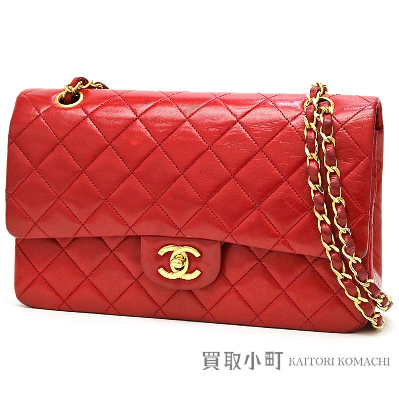 KAITORIKOMACHI  Chanel matelasse 25 classic flap bag red lambskin ... d7946729b8dc4