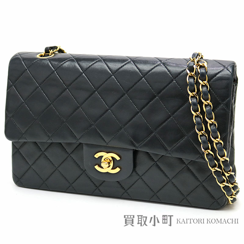 e1c7dc59b488 KAITORIKOMACHI: Chanel matelasse 25 classic flap bag black lambskin gold  metal fittings medium W chain shoulder bag constant seller chain bag  matelasse line ...