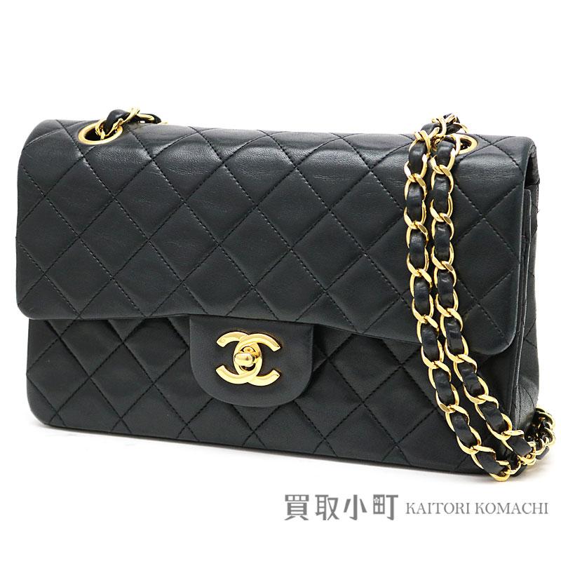 Chanel Matelasse 23 Classic Small Flap Bag Black Lambskin Gold Metal Ings W Chain Shoulder Constant Er Line Vintage