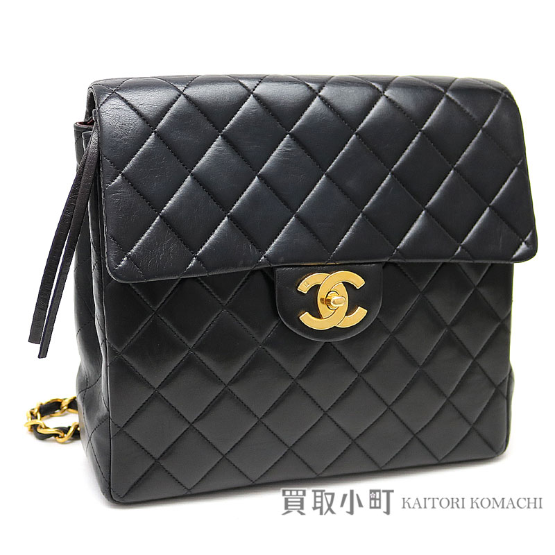Chanel matelasse chain rucksack black lambskin backpack flap day pack here  mark twist lock classical music vintage black  03 CLASSIC BACKPACK b9b4d59013e58