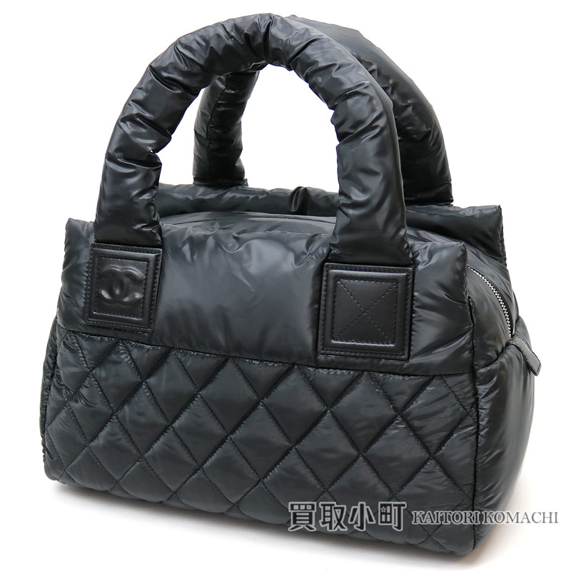 0458fbda93a3 KAITORIKOMACHI: Chanel here cocoon Small Boston bag black nylon X leather  mini-Boston matelasse quilting stitch here mark A48619 #14 COCOCOCOON SMALL  BOSTON ...