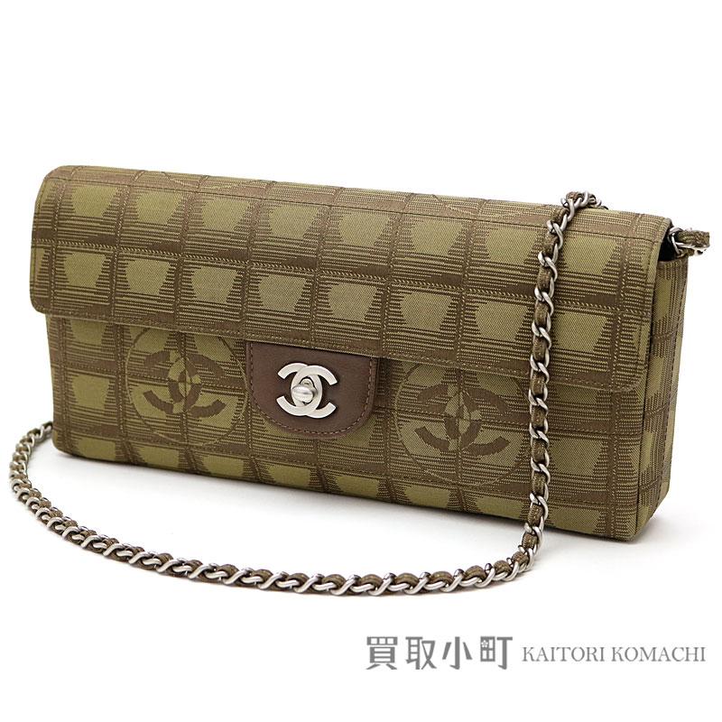 Chanel current style bell line chain shoulder bag khaki nylon flap bag  chain bag handbag clutch bag A15316  07 NEW TRAVEL LINE FLAP BAG 1fc429dc2c8e3