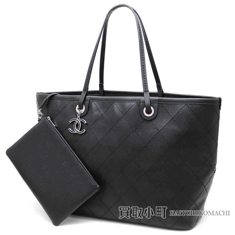 53abda33ad4a Chanel caviar skin shopping bag large size black here mark charm quilting tote  bag shoulder bag matelasse line classical music A92327  19 CAVIARSKIN ...