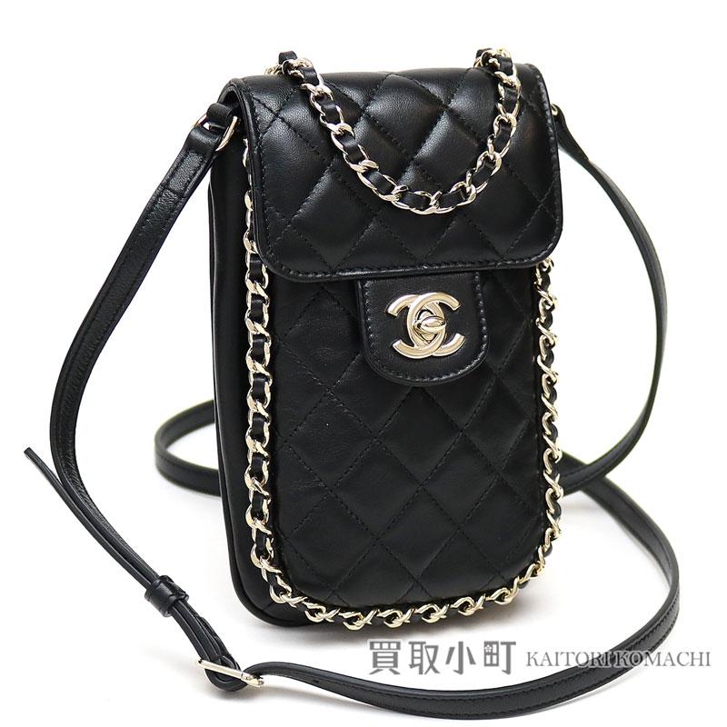 edcf4d5d40c9 KAITORIKOMACHI: Chanel matelasse smartphone pochette chain around clutch bag  black lambskin here mark twist lock A84255 #23 EXTRA MINI CHAIN AROUND  WALLET ...