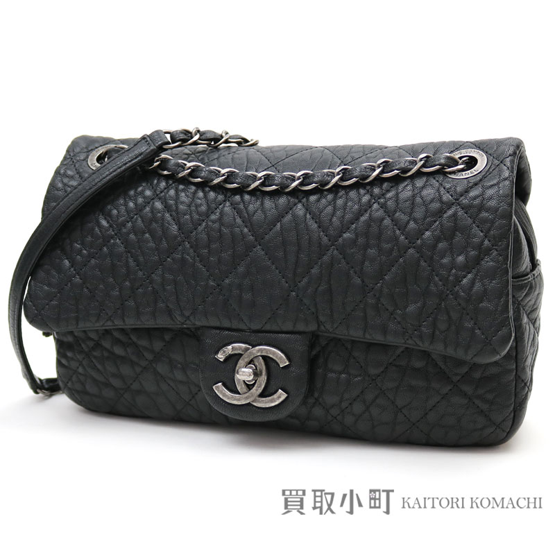 a9aaeb6eb217 Take Chanel easy flap bag antique black leather classical music W chain  shoulder bag chain bag matelasse quilting slant   21 EASY FLAP BAG QUILTED  BLACK ...