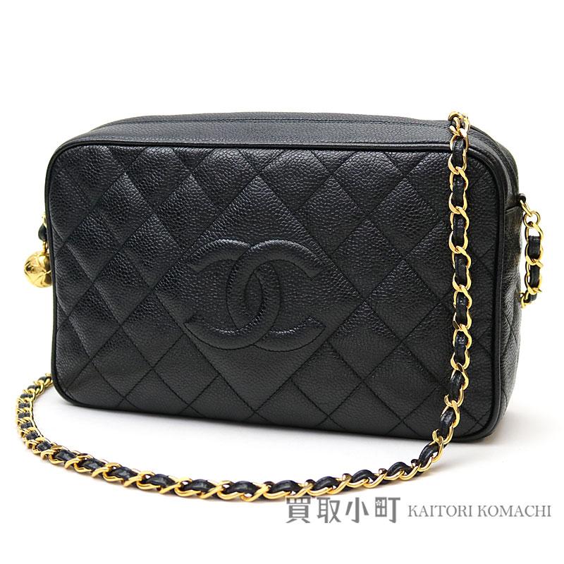 9edd3daa11 KAITORIKOMACHI: Take Chanel matelasse caviar skin chain shoulder bag black  diamond kilt here mark stitch chain bag slant; classic vintage #03 CLASSIC  ...