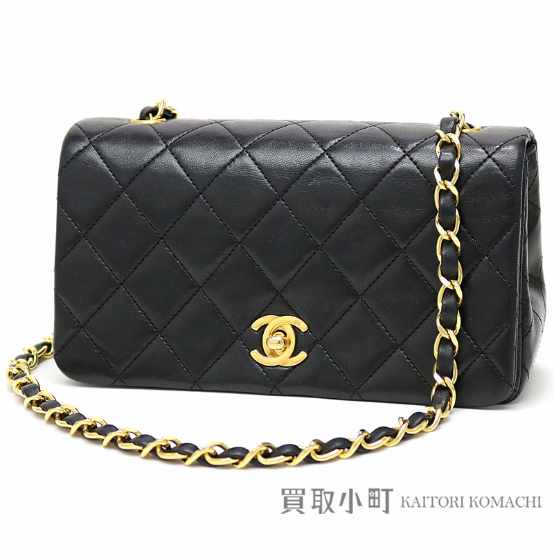 1f542a29633a1a KAITORIKOMACHI: Take Chanel mini-matelasse chain shoulder bag black  lambskin classical music oar flap slant; here mark twist lock flap bag  chain bag ...
