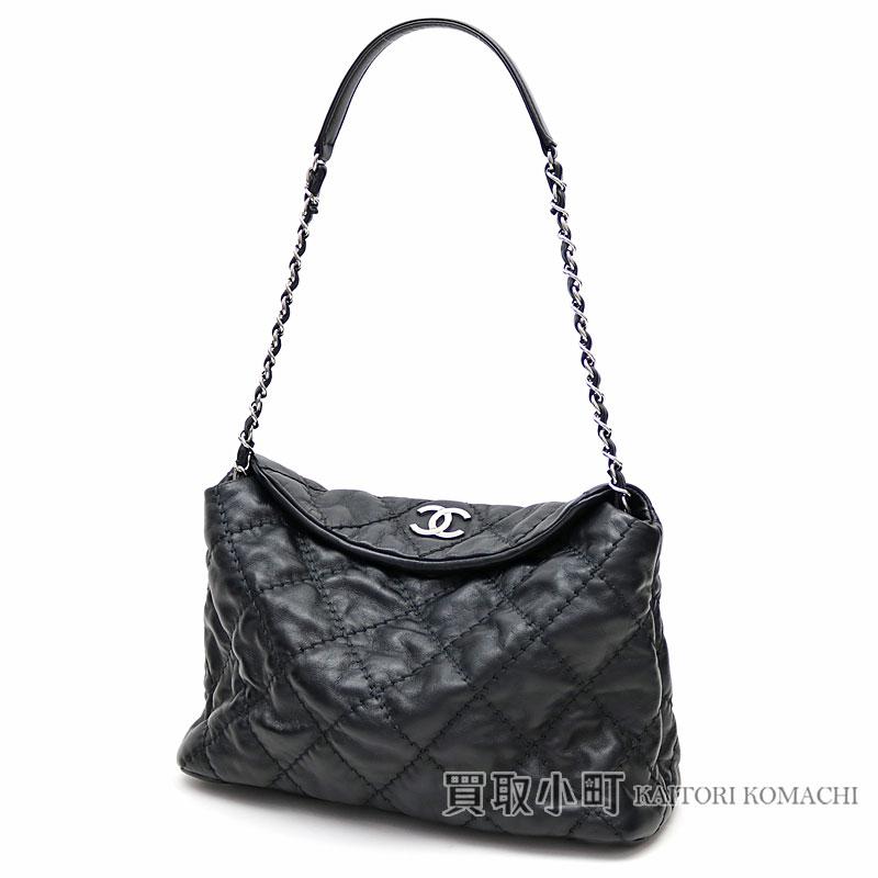 62d6eedfa031 Chanel quilting Ho baud bag black calfskin chain shoulder bag chain bag  here mark  18 HOBO BAG