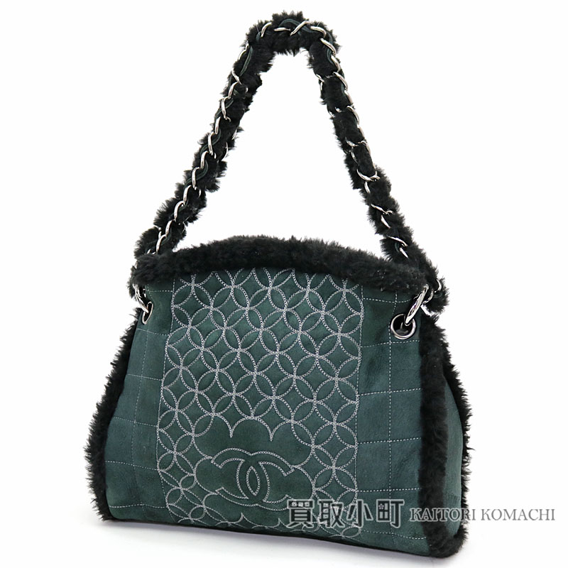 4323fbe79c3d Chanel mouton chain shoulder bag black CC mark stitch Ho baud bag fur  10  Mouton Chain Hobo bag