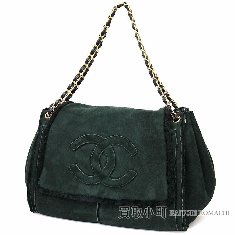 73db67e9c948 KAITORIKOMACHI: Take Chanel mouton accordion chain shoulder bag black here  mark stitch chain bag messenger bag slant; fur # 07 Mouton Chain bag [AB ...