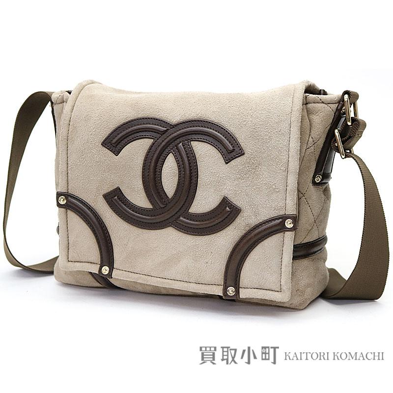 8f78683d516c KAITORIKOMACHI  Chanel mouton messenger bag brown here mark Lady s ...
