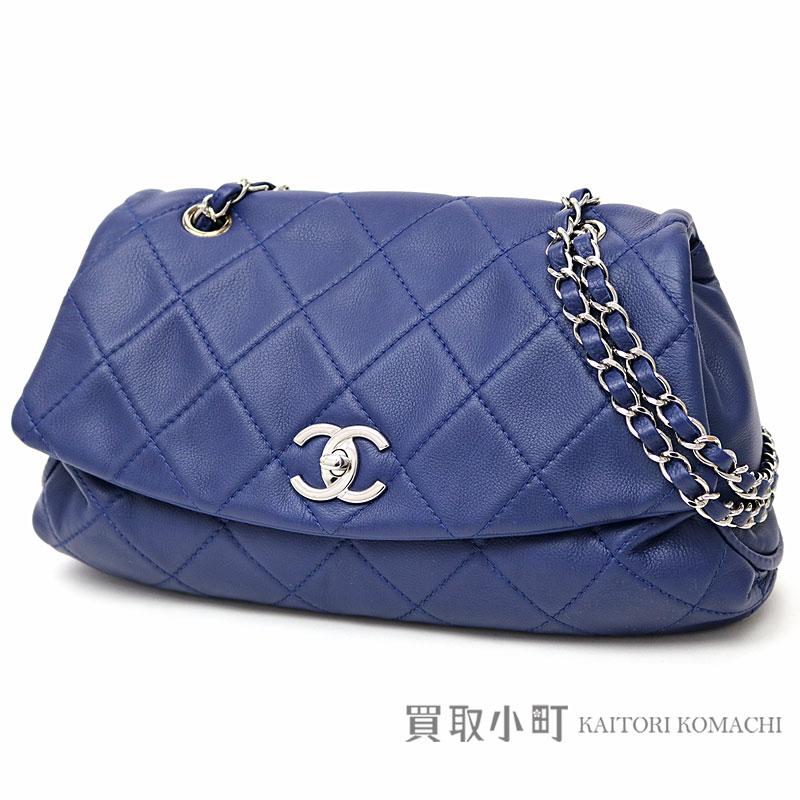 0fd319af5b3b KAITORIKOMACHI: Chanel CC Kirby flap bag blue calfskin classical music here  mark twist lock chain shoulder bag chain bag matelasse quilting A90694  Y10817 ...