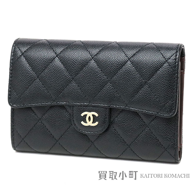 6d2e19efee86 KAITORIKOMACHI: Three Chanel thymeless classic quilting Small wallet black  caviar skin gold metal fittings fold wallet matelasse wallet A84341 24th  Classic ...