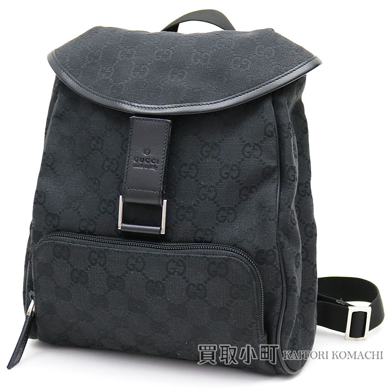 a2f7b96b34f1 Gucci GG canvas Small backpack black rucksack day pack Lady s kids 27644 GG  CANVAS BACK PACK