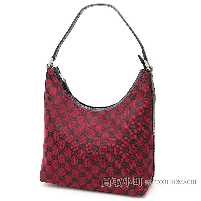 a2b05ba6b24 KAITORIKOMACHI: Gucci GG canvas shoulder bag dark red X sheepberry ...