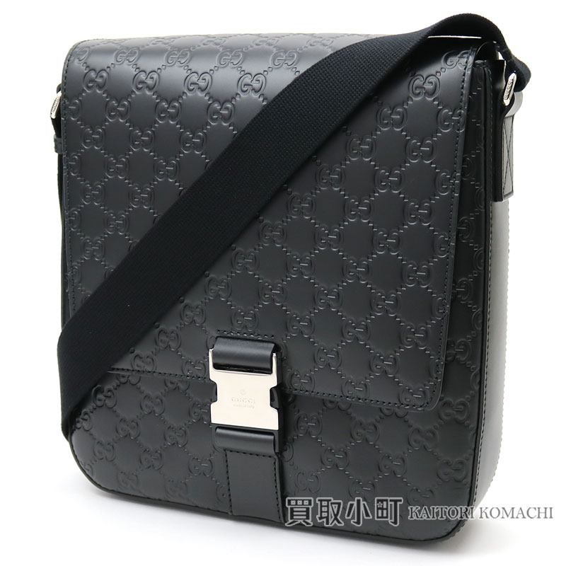 88c4677a7 Take a Gucci Gucci signature leather messenger bag black calfskin men  crossbody shoulder bag slant; Gucci sima 406368 CWCBX 1000 Gucci signature  Messenger ...