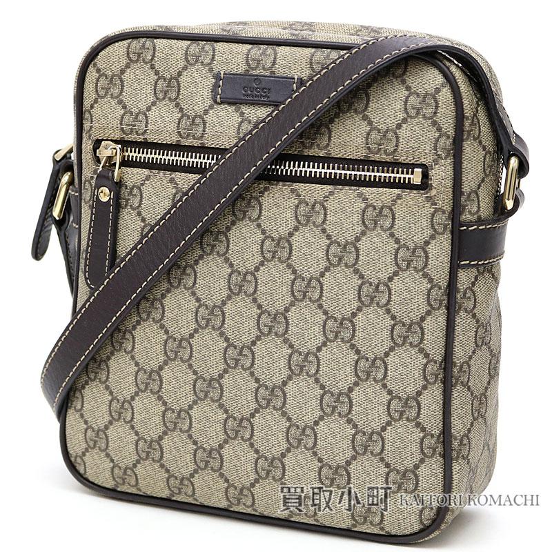 2dcd98c1fe71 KAITORIKOMACHI: Take Gucci GG plus shoulder bag beige X dark brown ...