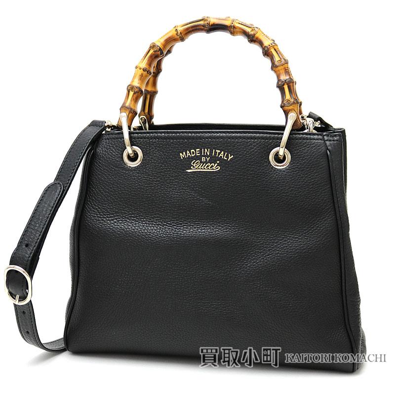 c7ad7d4a8986 KAITORIKOMACHI: Gucci bamboo shopper Small leather tote bag black calfskin  bamboo steering wheel handbag 2WAY shoulder bag 336032 A7M0G 1000 BAMBOO  SHOPPER ...