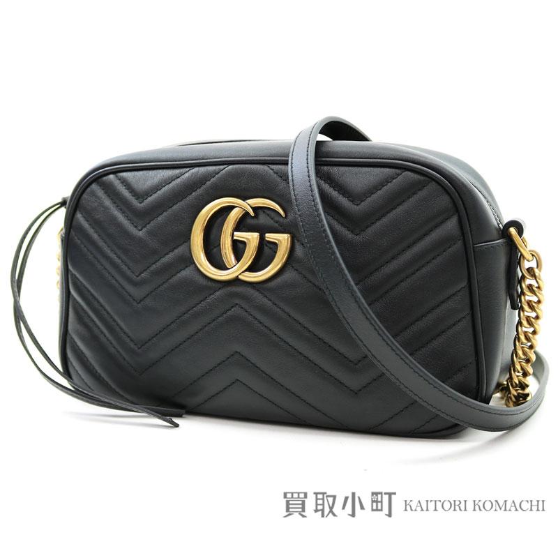 280e0299751 Gucci GG マーモントキルティングレザーショルダーバッグブラックチェーンショルダーバッグダブル G GG stitch 447632 DRW1T  1000 GG Marmont matelasse shoulder bag