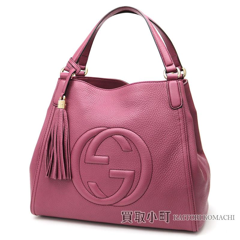 5e1039a6ee1d KAITORIKOMACHI: Gucci Soho leather shoulder bag medium tassel charm  interlocking grip G stitch tote bag fringe 282309 SOHO LEATHER BAG    Rakuten Global ...