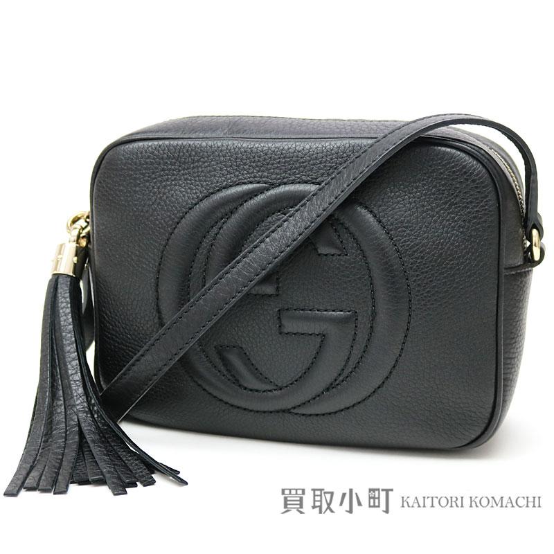 d49f68b69 KAITORIKOMACHI: Gucci Soho black leather disco bag Small size tassel charm  interlocking grip G crossbody shoulder bag fringe 308364 A7M0G 1000 SOHO  LEATHER ...