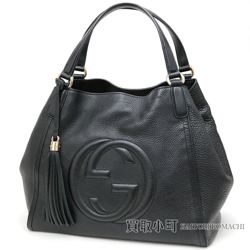 2f50b88d2e1 Gucci Soho leather shoulder bag medium tassel charm interlocking grip G  stitch tote bag fringe 282309 A7M0G 1000 SOHO LEATHER BAG