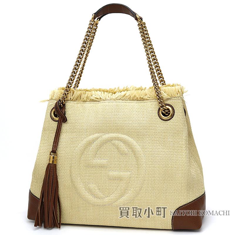 25c66f7258e Gucci Soho medium shoulder bag straw X calf-leather tassel charm  interlocking grip G chain shoulder tote bag fringe straw 308982 Soho Straw Shoulder  bag
