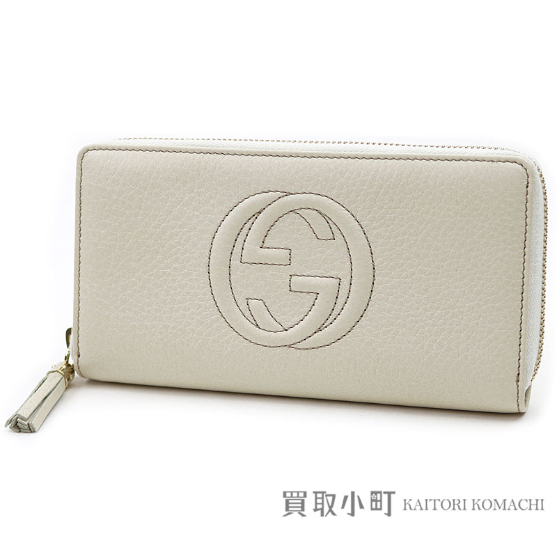 f27fda61427 Gucci Soho leather zip around wallet white interlocking grip G stitch  tassel charm round fastener long wallet wallet 308004 A7M0G 9022 Soho Zip  around ...