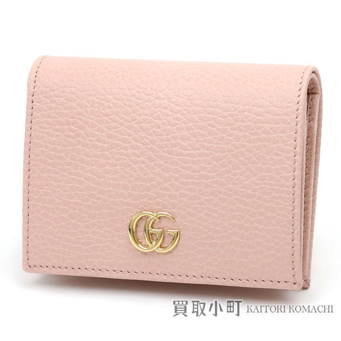 Kaitorikomachi rakuten global market light pink calfskin card light pink calfskin card case business card holder compact wallet fold wallet wallet 456126 cao0g 5909 gg marmont leather card case with the colourmoves