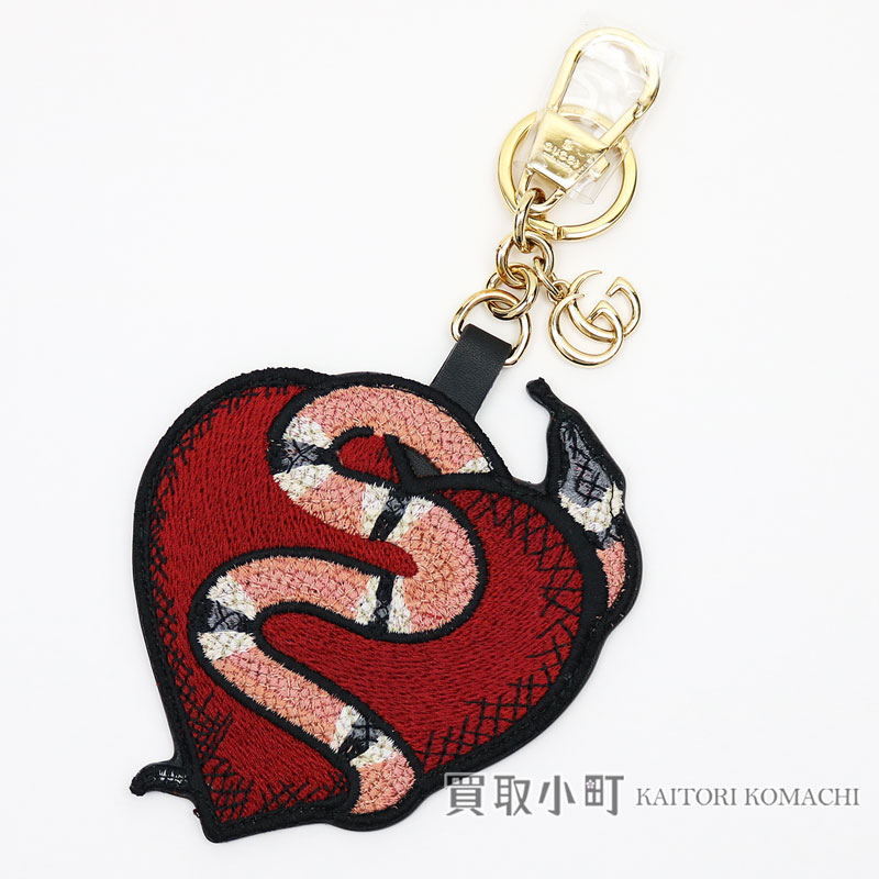 765ed6630 Gucci heart   snake key ring interlocking grip G spotted adder embroidery  embroidery GG スプリームキャンバスキーホルダーバッグチャーム 453184 GT4DG 5768 ...