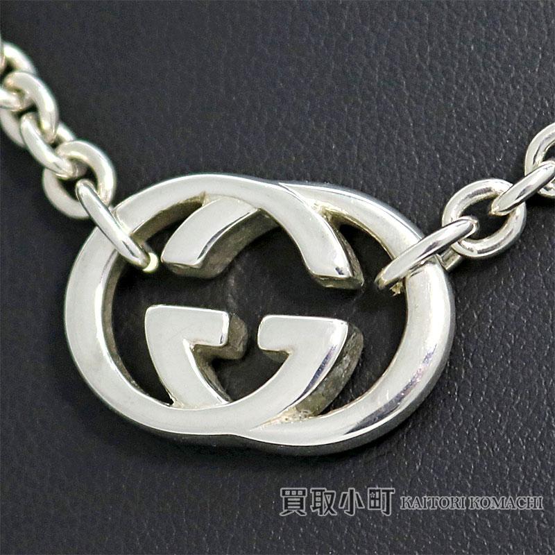 aaee11e04c Gucci interlocking grip G silver necklace SV925 silver Bullitt pendant  double G choker 190489 J8400 8106 GG GUCCI ICON INTERLOCKING G NECKLACE  SILVER