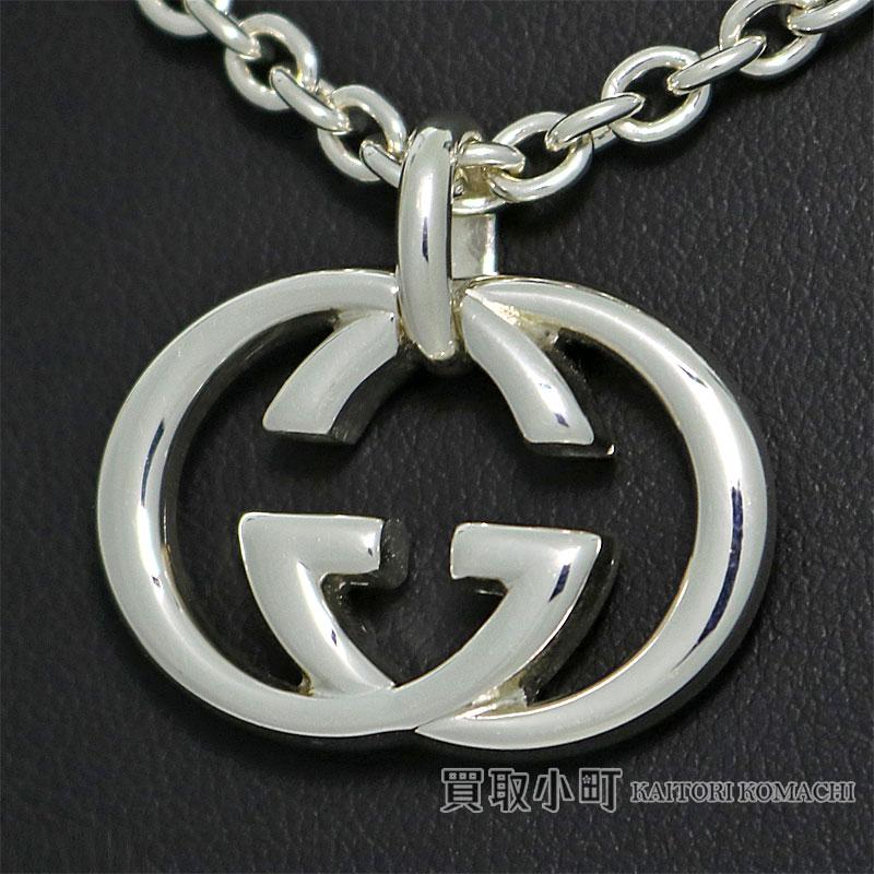 844932cbf3 190484 Gucci interlocking grip G silver necklace SV925 silver Bullitt  pendant double G-mans J8400 8106 GG GUCCI ICON INTERLOCKING G NECKLACE  SILVER