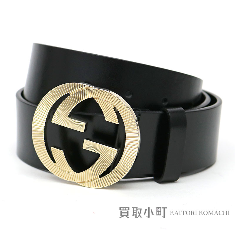 8d803a8c4 KAITORIKOMACHI: Gucci interlocking grip G buckle leather belt men black  gold metal fittings GG double G 232849 BDV0G 1000 #85 LEATHER BELT WITH  INTERLOCKING ...