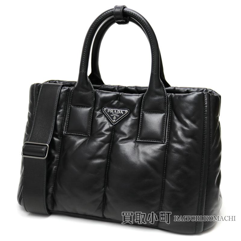 64bc3b6e276b プラダナッパボンバートートバッグブラックラムスキントライアングルロゴ 2WAY shoulder bag handbag BN2653 2A6L  F0002 NAPPA BOMBER NERO TOTE BAG