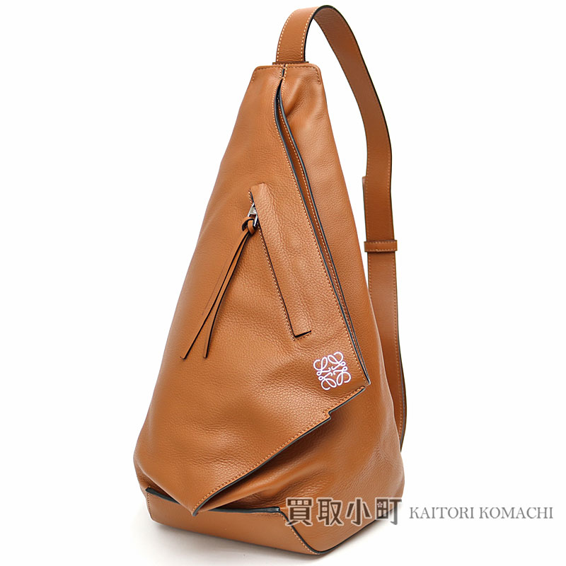 34252a84ba1f Loewe Anton Small backpack tongue classical music calf body bag shoulder bag  brown leather 307.10 .L72 ANTON SMALL BACKPACK TAN