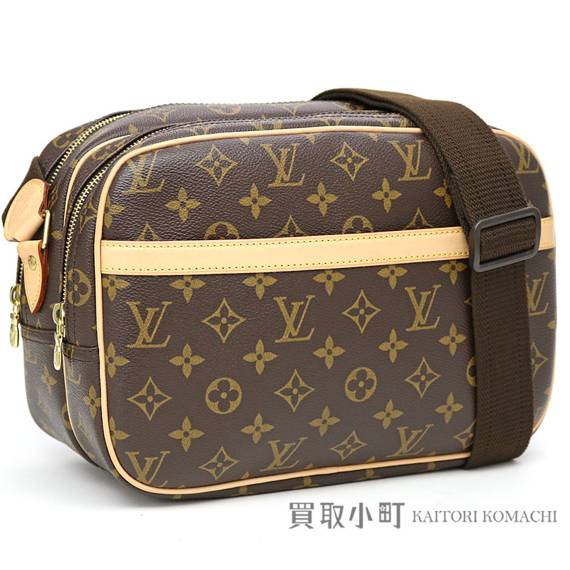 3cf1f5730bb4 Louis Vuitton M45254 reporter PM monogram shoulder bag messenger bag camera  bag classical music icon men gap Dis combined use LV REPORTER PM MONOGRAM  ...