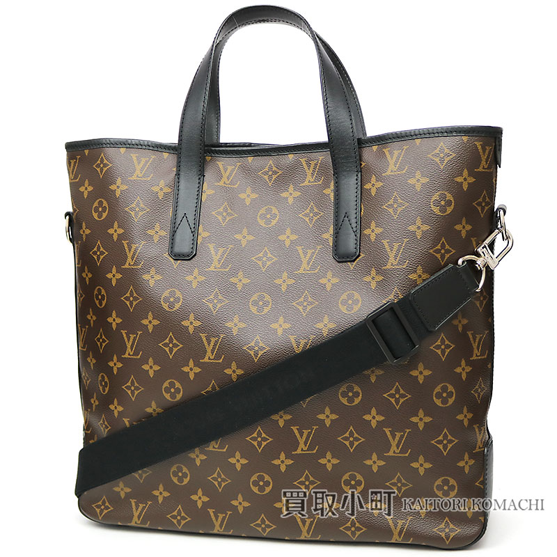 0dd872a4e8e0 Louis vuitton length type tote bag way shoulder bag black leather davis monogram  macassar jpg 800x800