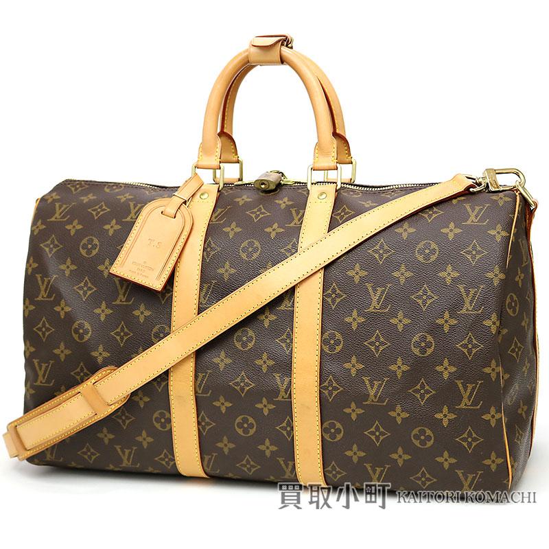dbb831ecfc4a Boston bag traveling bag travel bag key Poll 45 LV KEEPALL BANDOULIERE 45  MONOGRAM with the Louis Vuitton M41418 key Poll band re-yell 45 monogram  shoulder ...