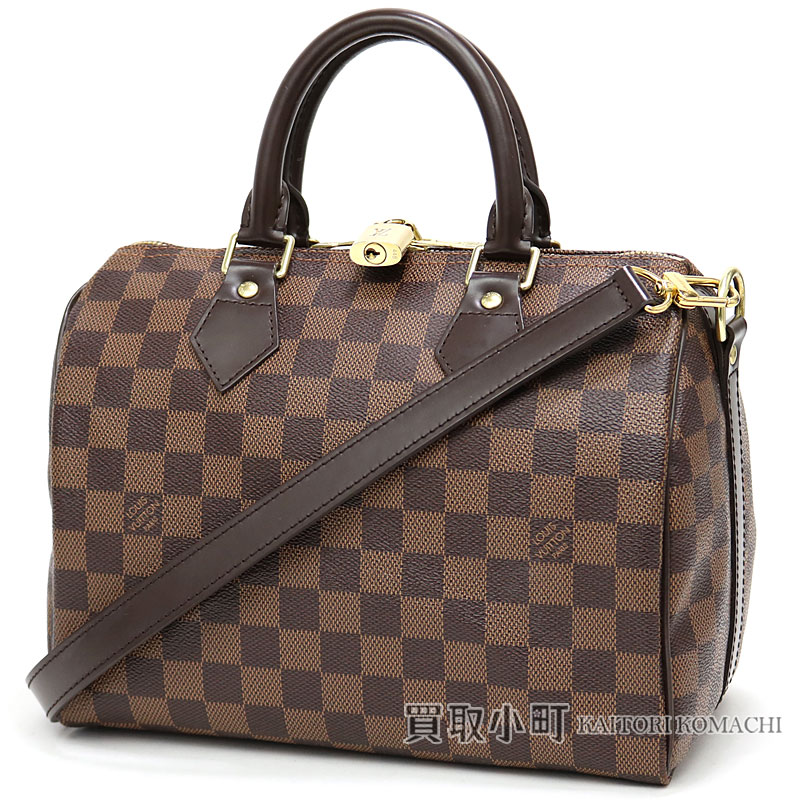 ef297cfa2f36 KAITORIKOMACHI: Speedy 25 LV SPEEDY BANDOULIERE 25 DAMIER with Louis Vuitton  N41181 speedy band re-yell 25 ダミエアイコンボストンバッグ 2WAY shoulder bag ...