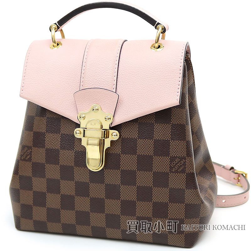 a0d27c8dd092 Louis Vuitton N42262 クランプトンバックパックダミエマグノリアトリヨンレザー 3WAY handbag shoulder bag  rucksack grain calf LV CLAPTON BACKPACK DAMIER EBENE